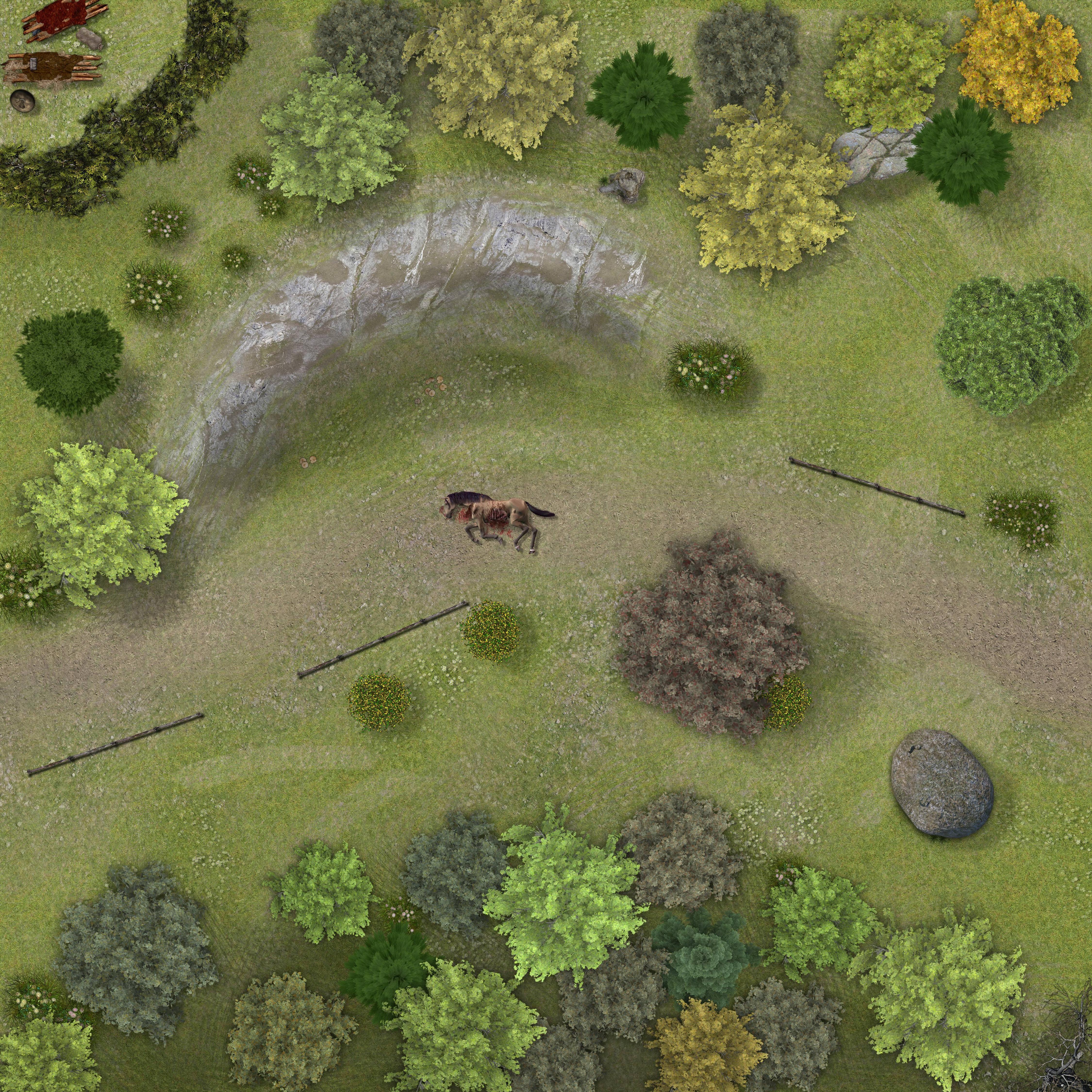 Goblin Ambush Battle map Lost mines of phandelver