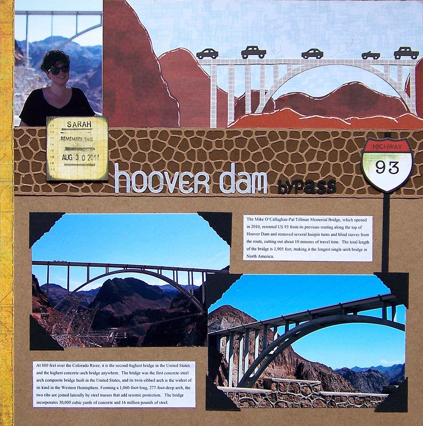 How to scrapbook disney vacation - Hoover Dam Bypass Scrapbook Com Vacation Scrapbookwedding Scrapbookdisney
