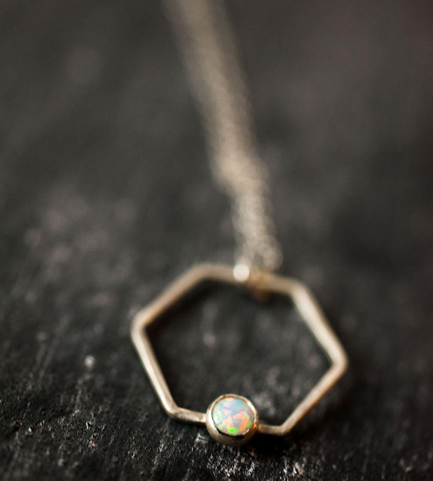 Hexagon Gem Necklace | Jewelry Necklaces | Jennie Claire | Scoutmob Shoppe | Product Detail
