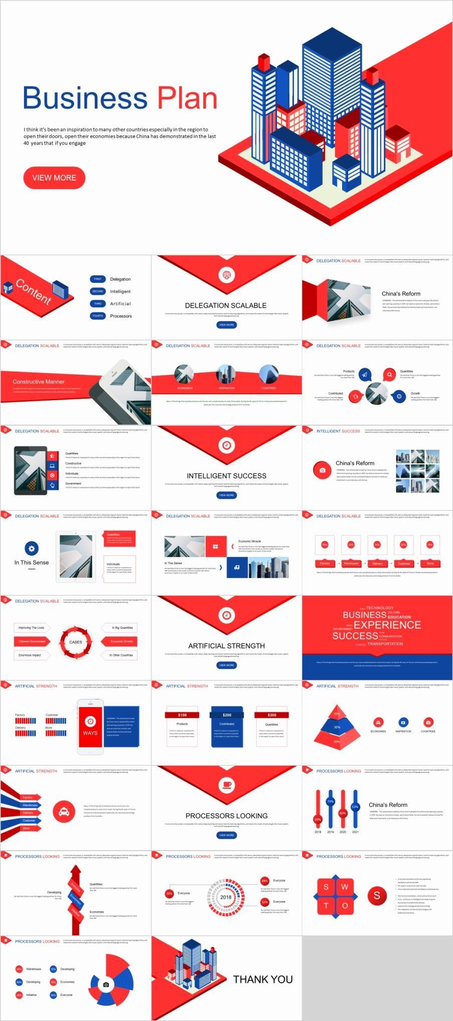 27 best red business plan powerpoint template design ideas