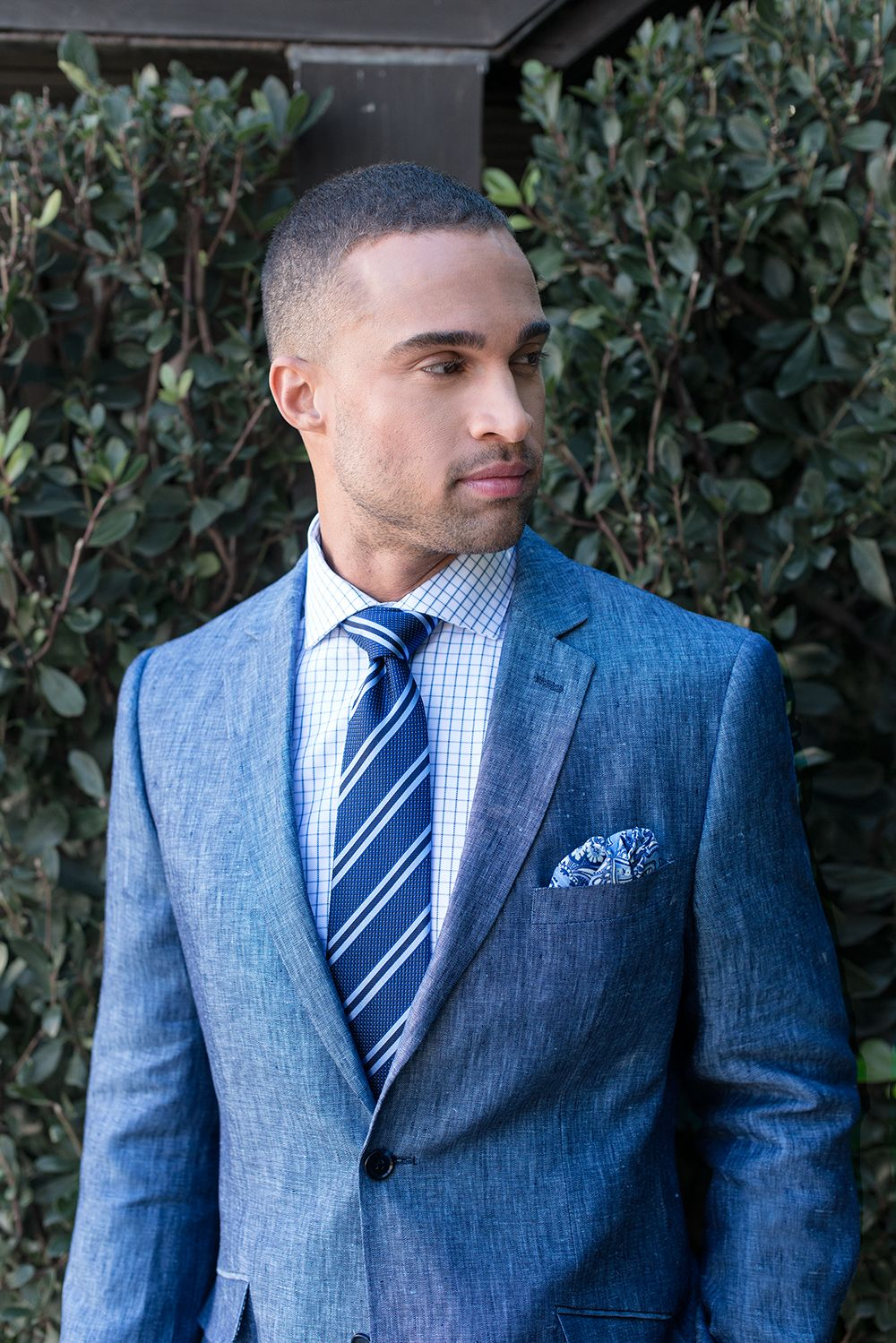 97149456a46adb Ladies do love a man in a suit. Bachrach linen suit will keep your body  ventilated.