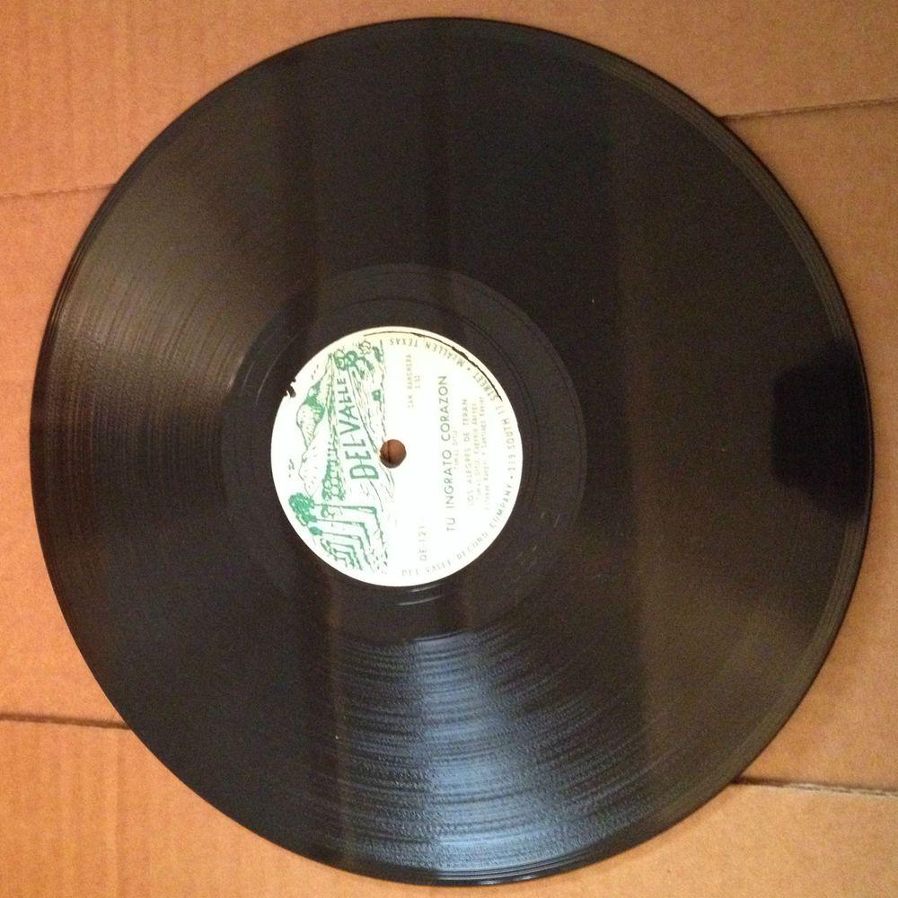 """Los Alegres De Teran 78 RPM Record """"Del Valle"""" Tu Ingrato Corazon, Modesto Ayala #Norteo"""
