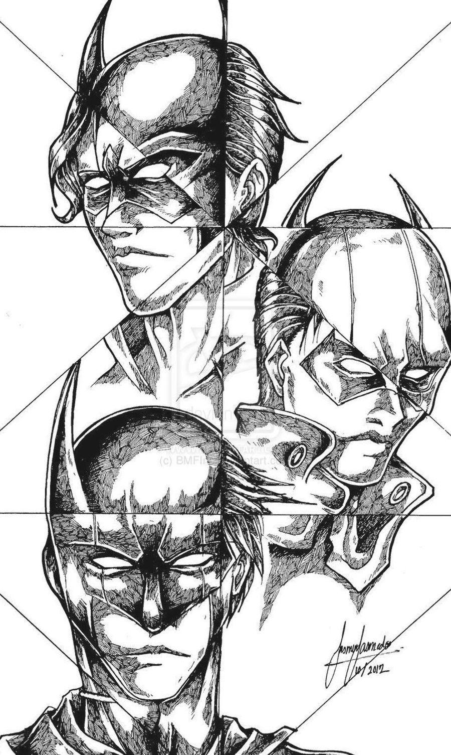 Batman Robin Nightwing Red Hood Drawing Batman Coloring Nightwing Batman Coloring Pages Batman