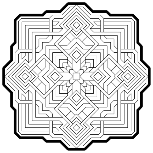 Geometry Coloring Pages-Coloring for grown ups | Drawing ...