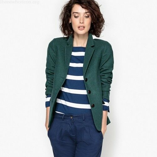 f67581900e51d La Redoute Dark Green Fitted Blazer With Elbow Patches Size UK 20 LF182 HH  12 #fashion #clothing #shoes #accessories #womensclothing  #coatsjacketsvests ...