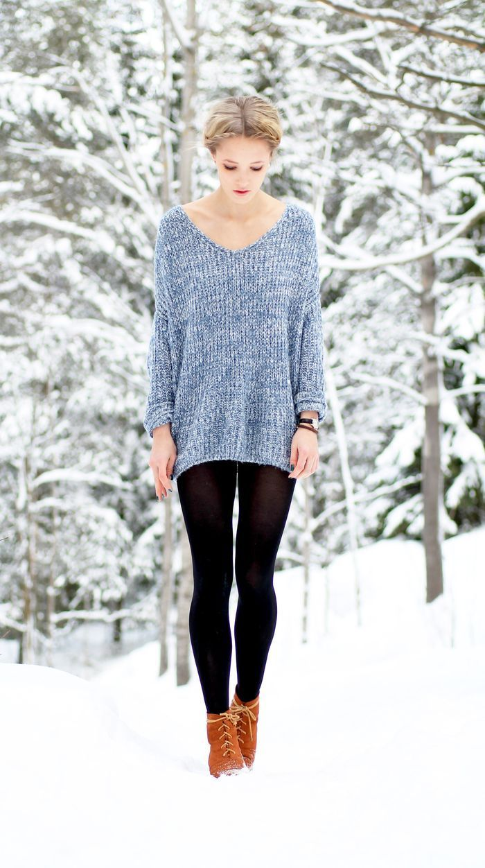 Knits to Wear in Fall for Comfy and Stylish Outfits | Black tights ...