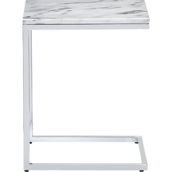 smart marble top c table in accent tables CB2 Designing and