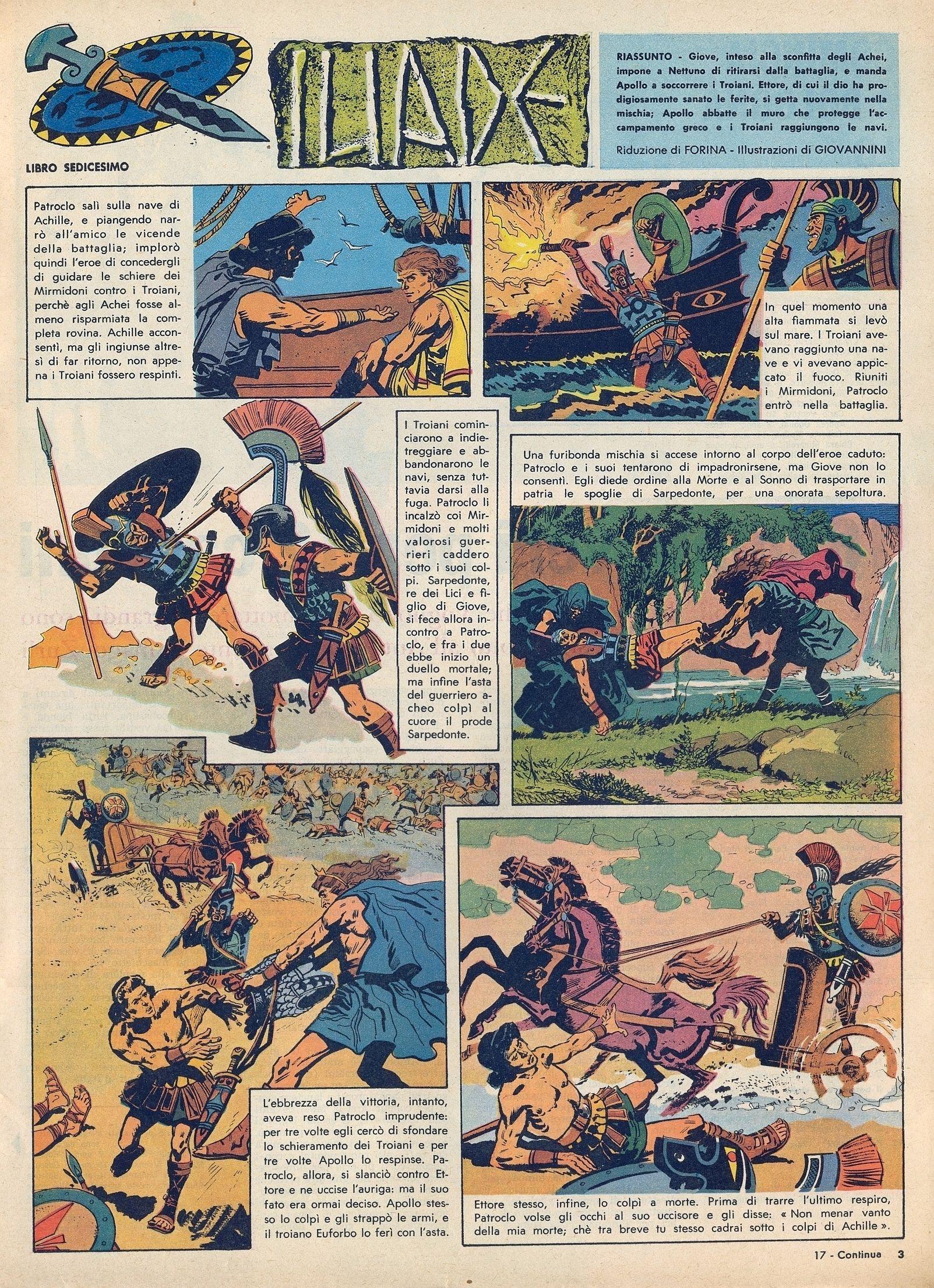 Corrierino E Giornalino Iliade Puntate 11 20 Libri Illustrati Storia Poemi