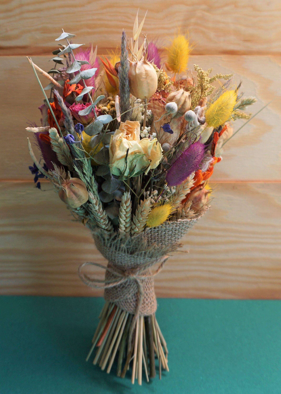 Dried floral arrangement Summer 2019 bouquet Wedding