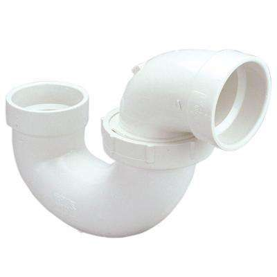 2 86 1 1 2 In Pvc Dwv Hub X Hub P Trap Fittings Pvc Home Depot