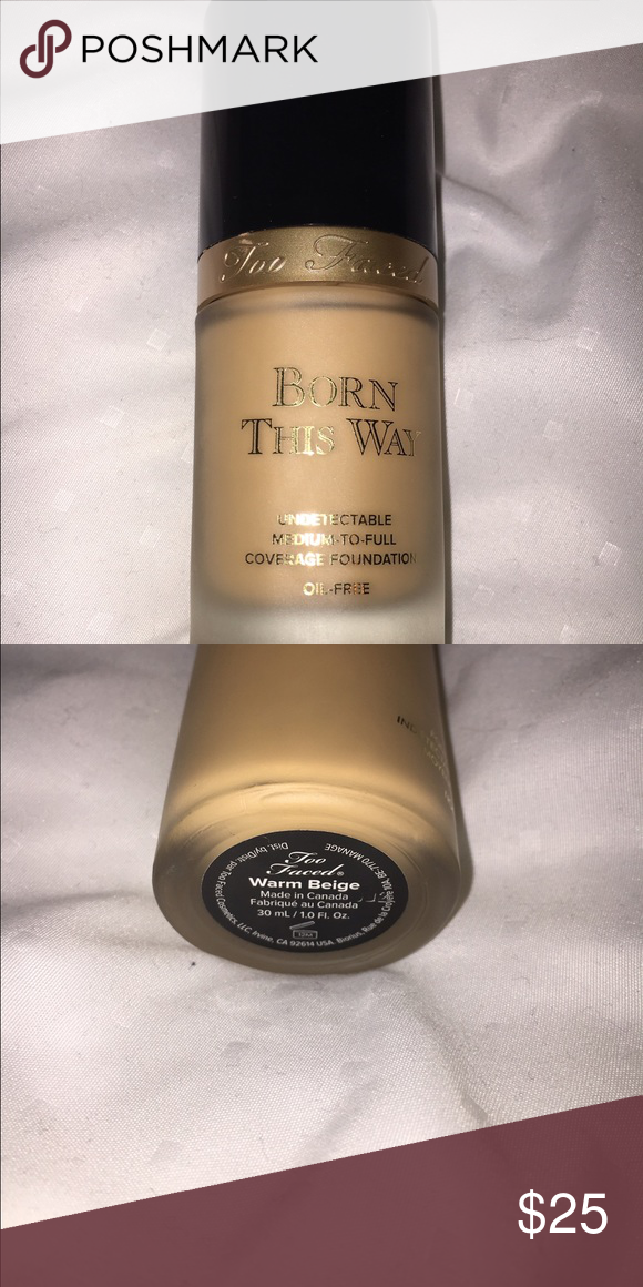 "TooFaced Born This Way Foundation In the shade ""warm beige"