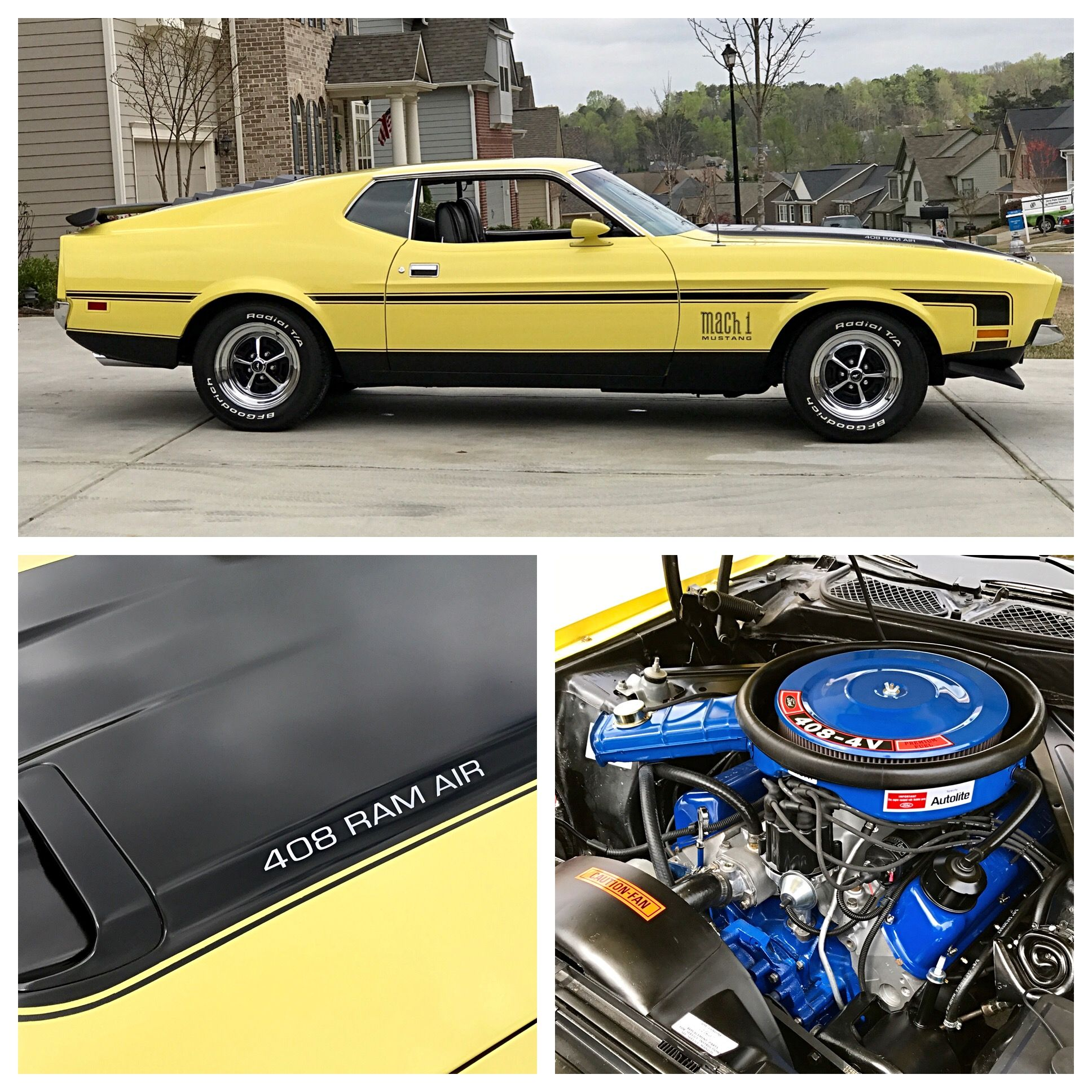 1971 Mustang Mach 1 408 Stroker, 4speed manual, aluminum