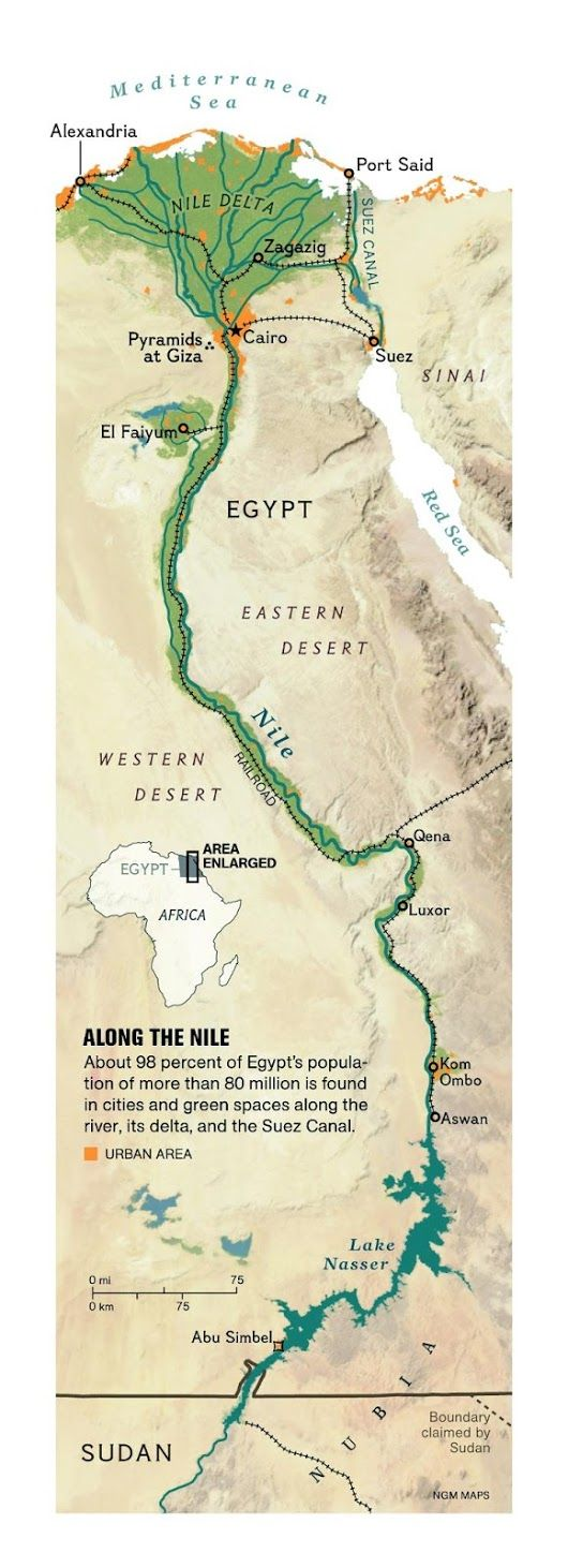 Dissect The Anatomy Of The Nile With Our Study Guide Using Our - Egypt interactive map