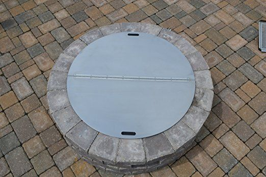 Round Snuffer Fire Pit Cover Outdoor Fire Pit Fire Pit Materials Outdoor Fire Pit Designs