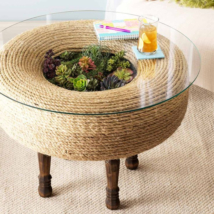 Terrarium Twist: How to Turn an Old Tire Into a Planter Table