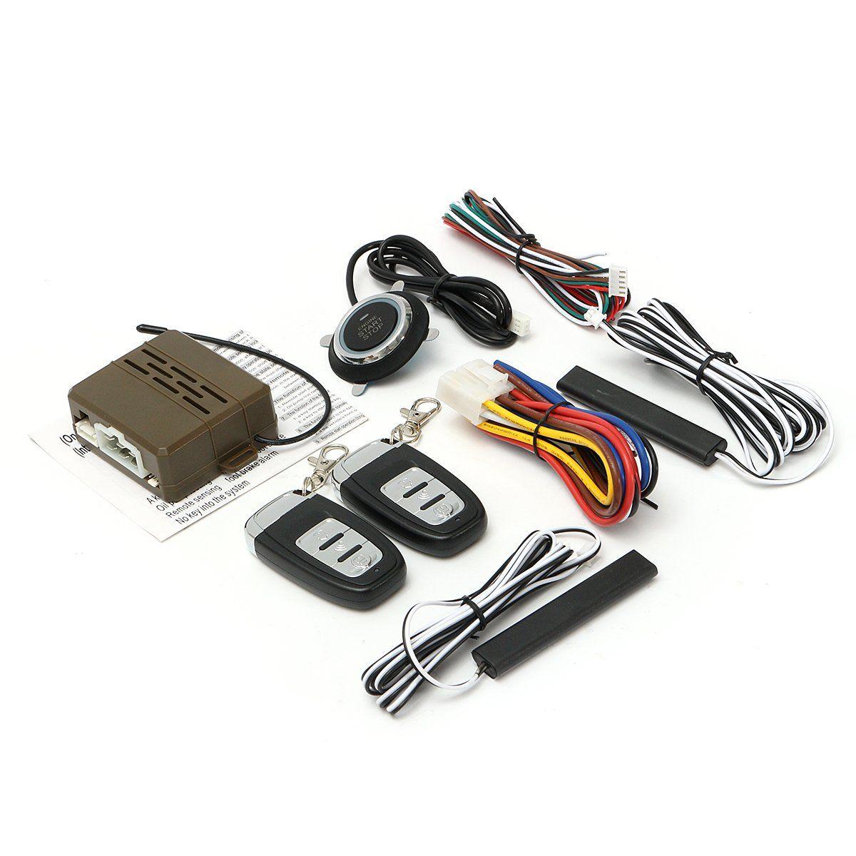8pcs Car Alarm Start Engine System Pke Keyless Entry Remote Start