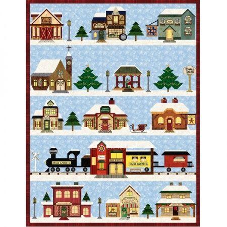 Holiday Snow Village Quilt Block of the Month - December 2016 - Stitchin' Heaven