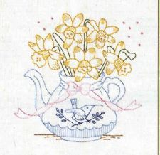 Bronwyn Hayes Stitcheries Floral Tea Time Kit - Bluebird & Bow  BH021