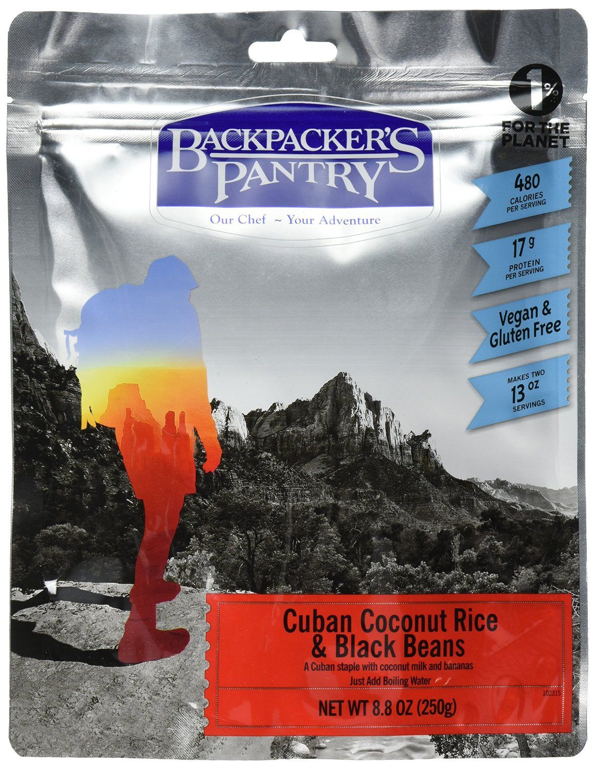 Backpackers pantry cuban coconut black bean and rice