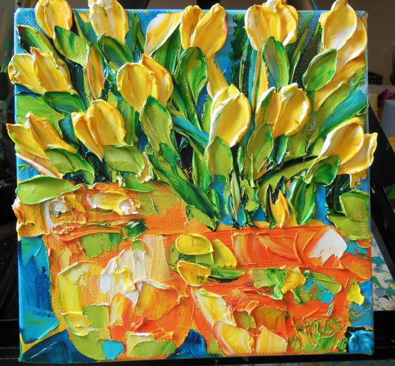Oil PaintingYellow Tulips By Jan Ironside
