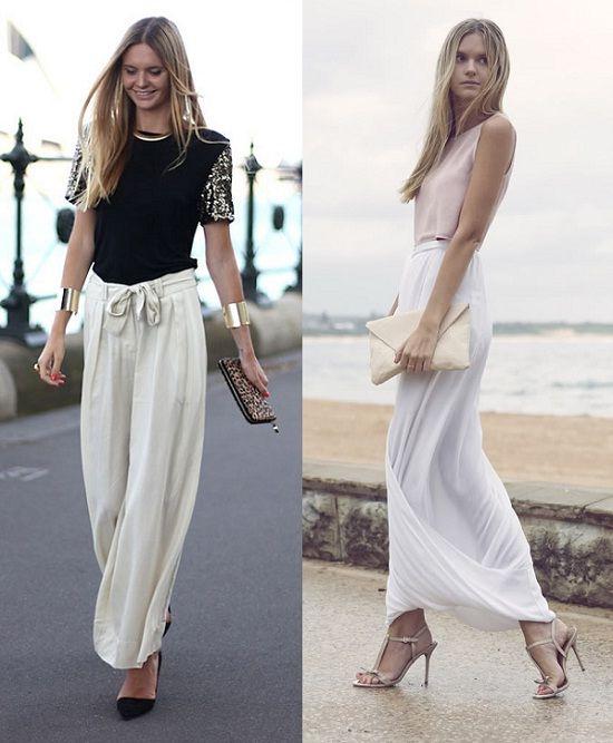 Tips para ser la invitada más chic | Faldas pantalon, Falda y La ...