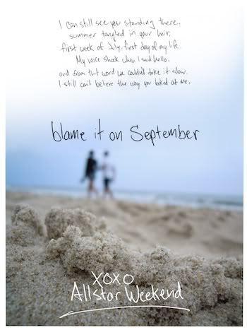 3 Blame It On September Allstar Weekend A Beautiful Song