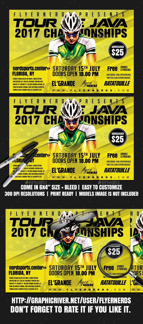 tour de java 2k17 sports flyer java event flyers and flyer template