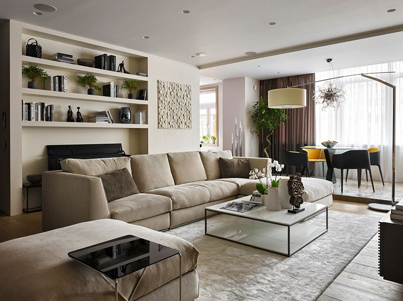 Sophisticated Moscow Apartment with Natural Materials