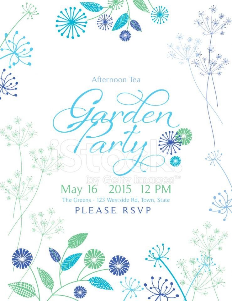 Greeting. Free Garden Party Invitations. Wild Flower Design Garden ...