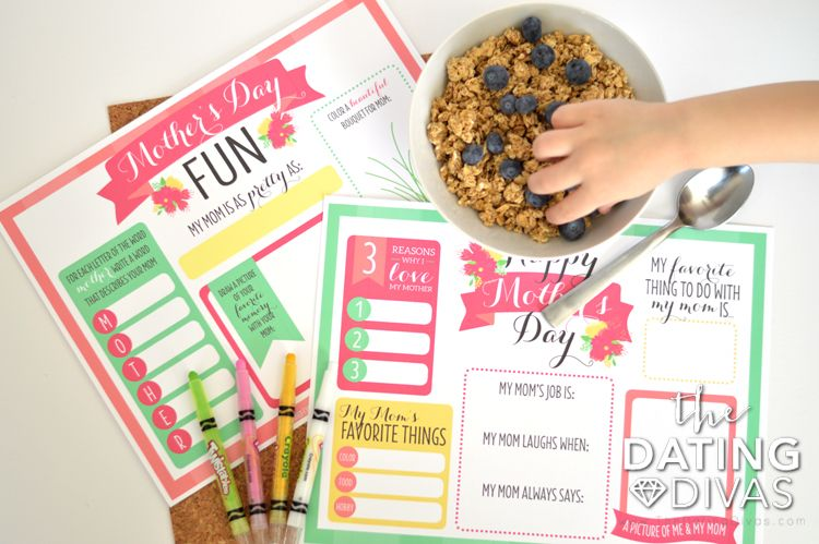 Mother S Day Printable Placemats Mothers Day Presents Mother S Day Diy Mothers Day Brunch