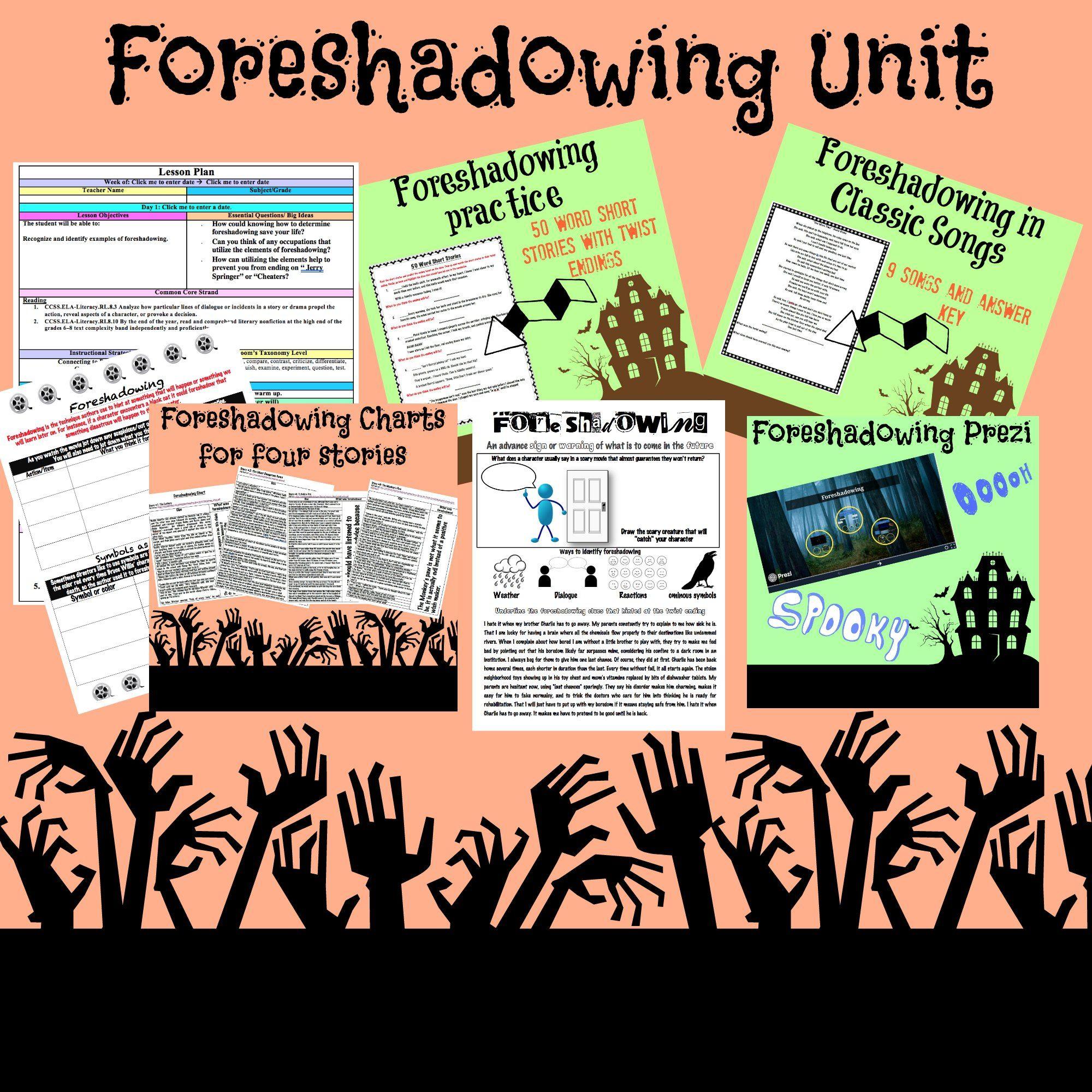 Complete Foreshadowing Unit   Kindergarten math worksheets addition [ 2000 x 2000 Pixel ]