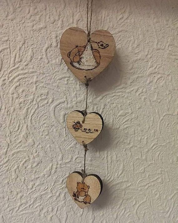 Check out this item in my Etsy shop https://www.etsy.com/uk/listing/248490193/baby-garland-with-3-hearts-for-name-date