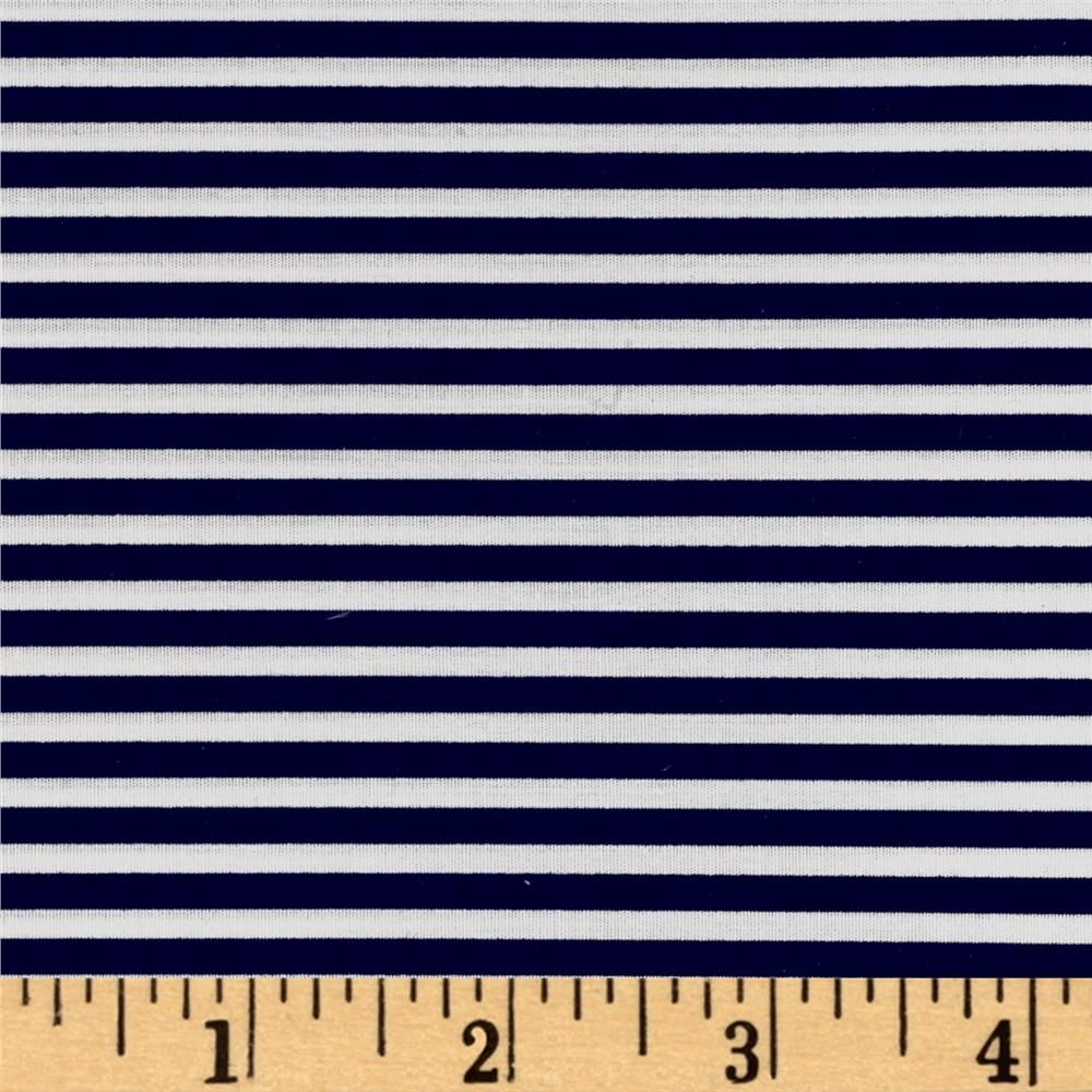 Telio Morocco Blues Stretch Cotton Shirting Navy/White from @fabricdotcom  This very lightweight cotton poplin fabric has an ultra smooth hand and 10% stretch across the grain. It is perfect for shirts, dresses, skirts, blouses and more.