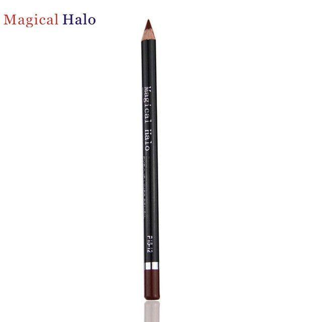 1PC Colorful Lipliner Pencil Waterproof Long-lasting Stick Soft Lip Makeup for Magical Halo Brand JAN10 3Levert Dropship