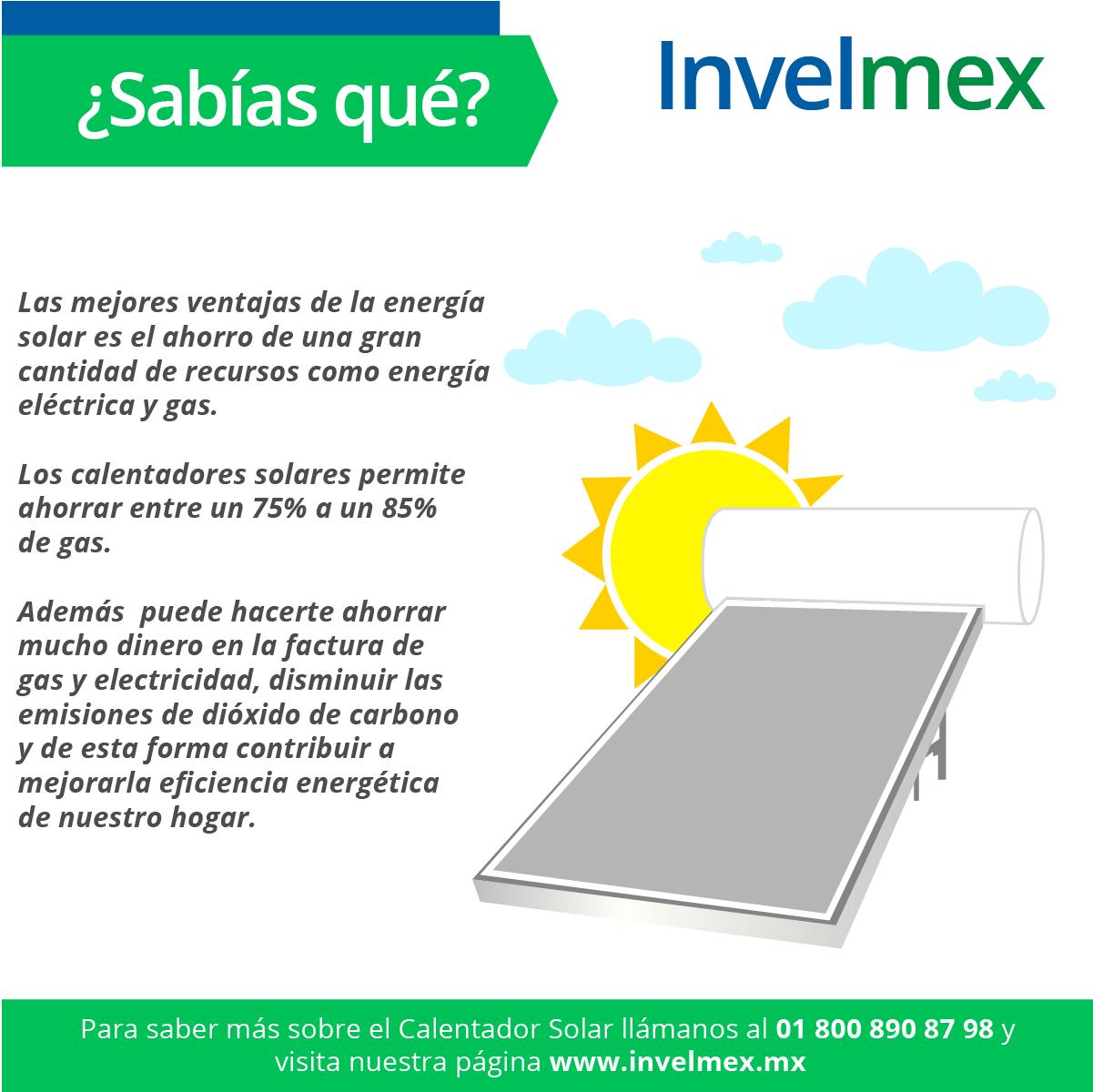 Sabias Que El Calentador Solar Permite Ahorrar Entre Un 75 A Un 85 De Gas Si Tienes Otro Dato In Energia Renovable Energia Solar Energia Solar Termica