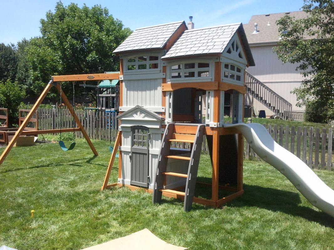 Costco Playsets Swing Sets Installation Grey Homes In