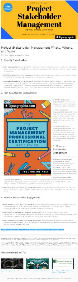 PMP Certification Project Stakeholder Management Whats, Whens, and