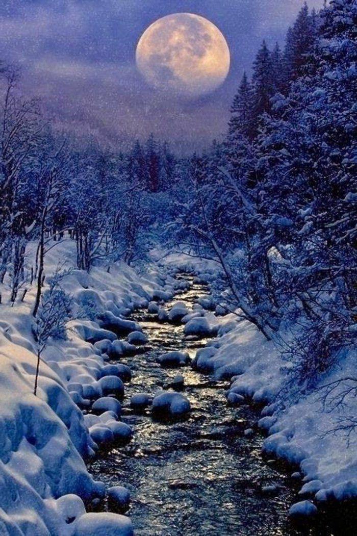 le paysage d 39 hiver en 80 images magnifiques hiver pinterest. Black Bedroom Furniture Sets. Home Design Ideas