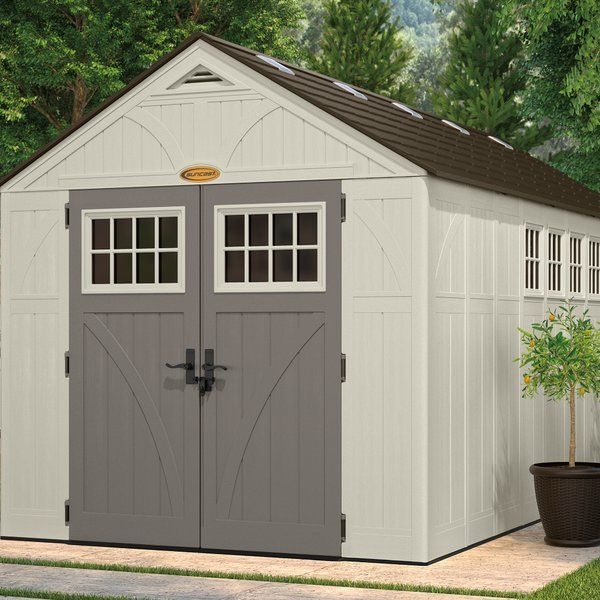 Tremont Outdoor 8 Ft W X 16 Ft D Plastic Storage Shed Plastic Storage Sheds Wood Storage Sheds Shed Design
