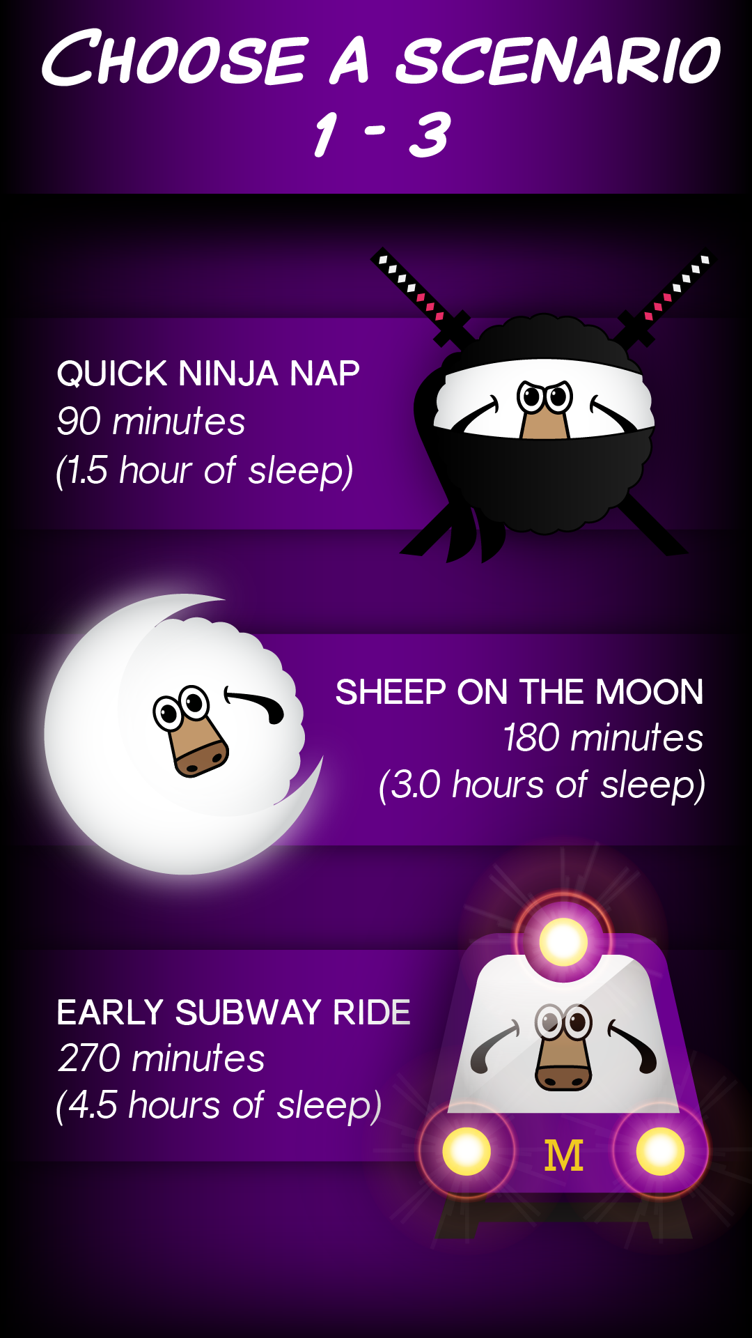 Sleep With Sheep in 90 Minute Cycles - Best Sleep Cycle Alarm Clock for iPhone (www.sleepwithsheep.com)