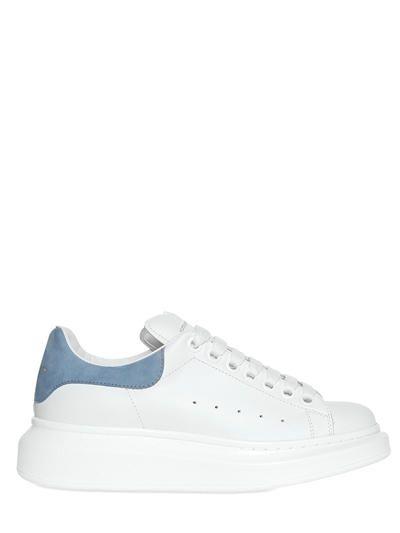 Alexander Mcqueen Leather Sneakers In