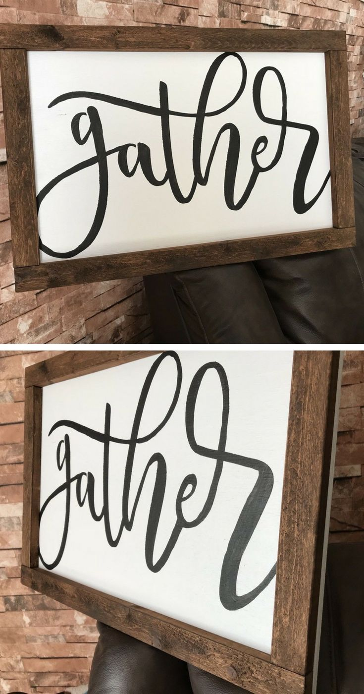 Gather wood sign dining room wall decor rustic sign fixer upper