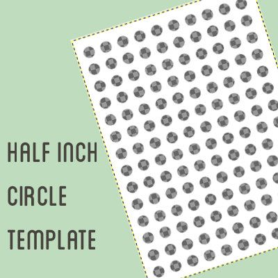 Digital collage template - 1/2 inch circle - Half inch bottle cap