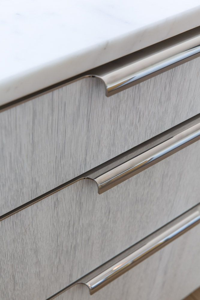 Custom Kitchen By Amuneal Drawer Pull Detail Modern Kitchen