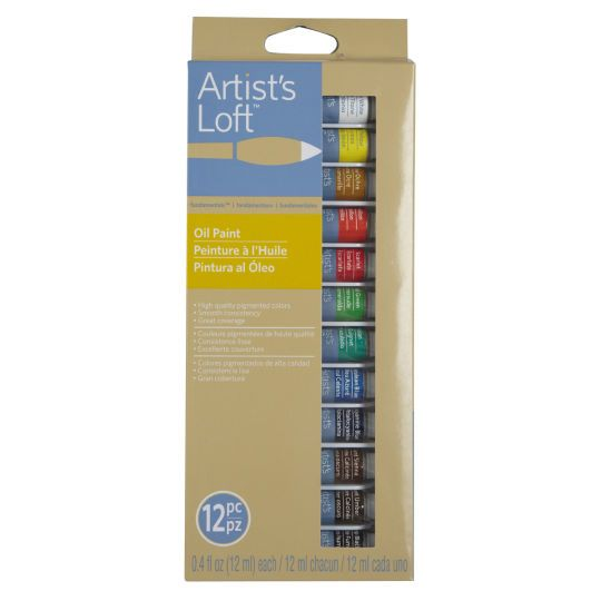 12 Color Fundamentals Oil Paint Set By Artist S Loft Oil Paint
