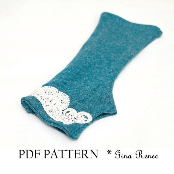 Fingerless Gloves Pattern. PDF Glove Sewing Pattern | Fingerless ...