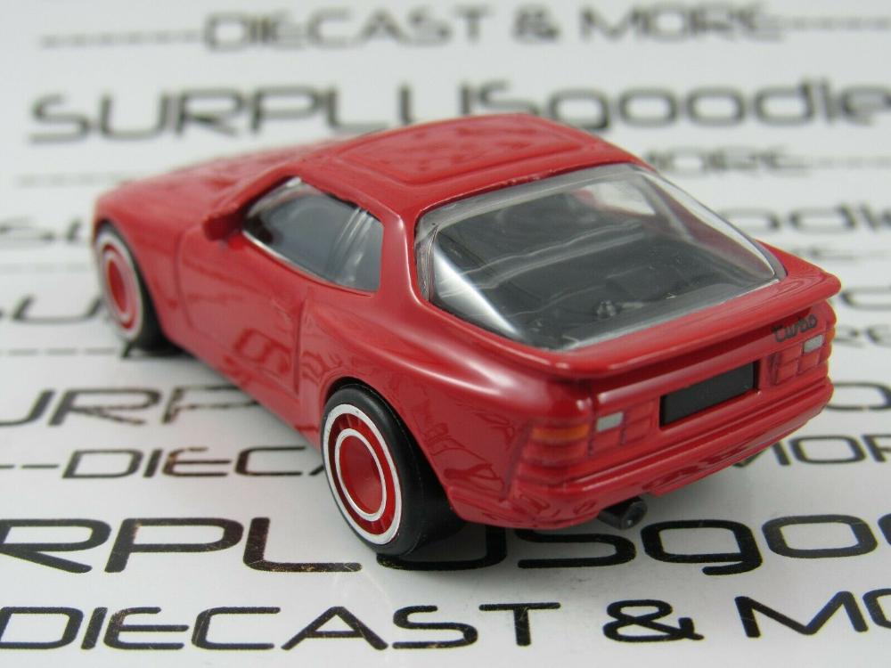 Hot Wheels 1:64 LOOSE Red 1989 /'89 PORSCHE 944 Turbo Custom SUPER w//Real Riders