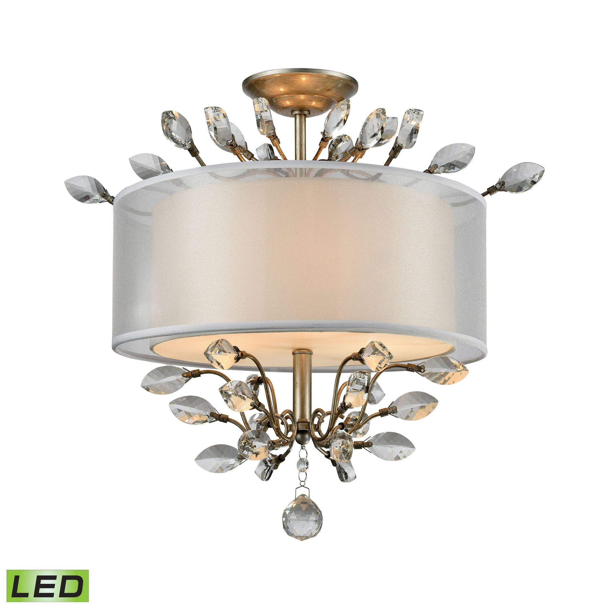 ELK Lighting 16281/3-LED Asbury Collection Aged Silver Finish