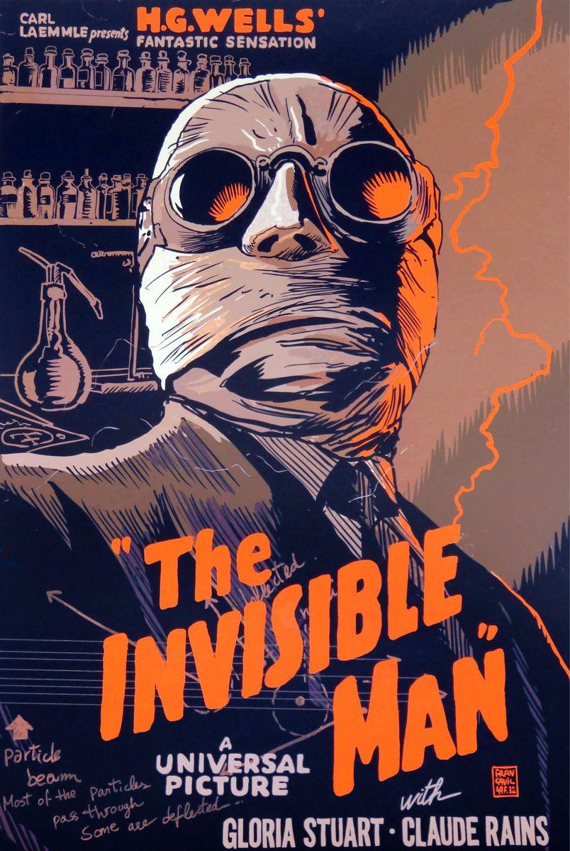 18x24 Decoration Movie Poster Home Room Interior Design Invisible Man Film 6669
