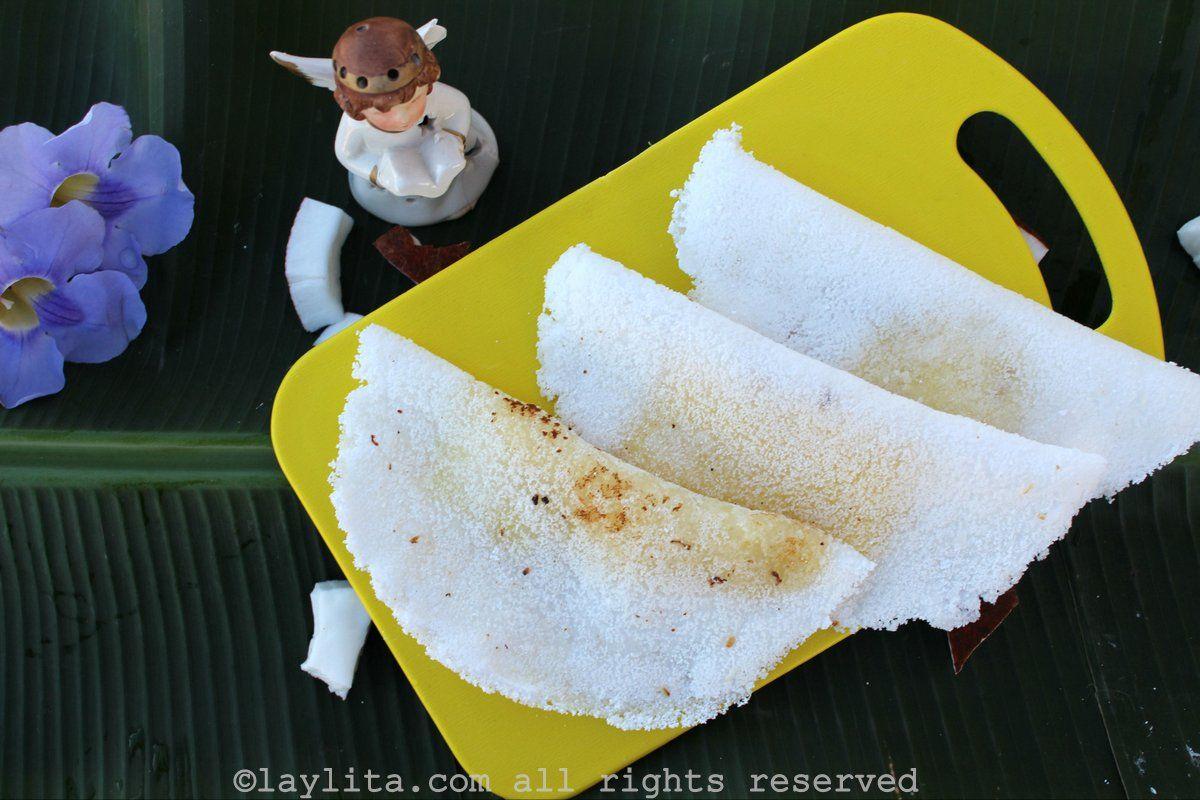 Easy recipe for Brazilian manioc or tapioca crepes, these